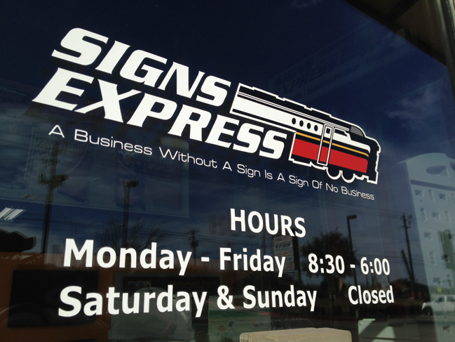 Signs Express Hours